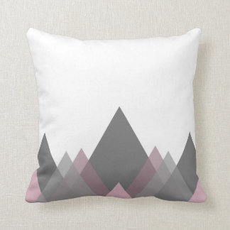 Graphic and Modern Pink & Gray Throw Pillow