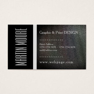 Graphic and print services designer business card