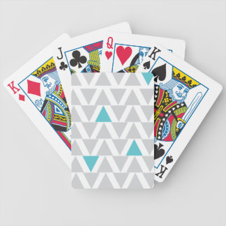 Graphic Aqua & Gray Playing Cards