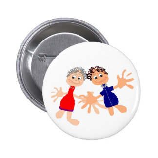 Graphic Art - Two Friends 2 Inch Round Button