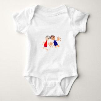 Graphic Art - Two Friends Baby Bodysuit