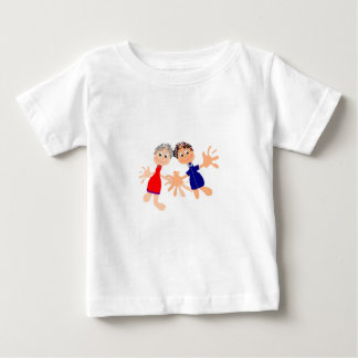 Graphic Art - Two Friends Baby T-Shirt
