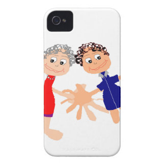 Graphic Art - Two Friends iPhone 4 Case-Mate Cases
