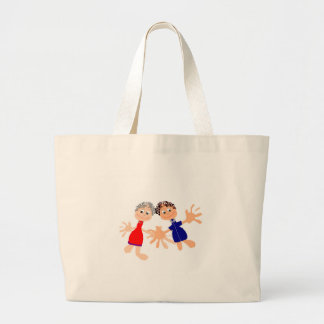 Graphic Art - Two Friends Large Tote Bag