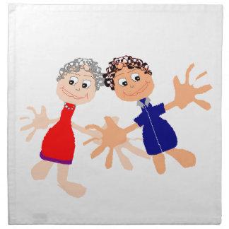Graphic Art - Two Friends Napkin