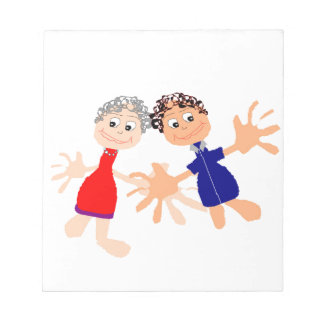 Graphic Art - Two Friends Notepad