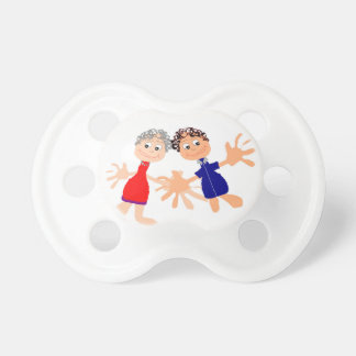 Graphic Art - Two Friends Pacifier