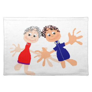 Graphic Art - Two Friends Placemat