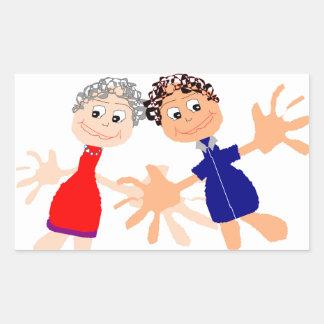 Graphic Art - Two Friends Sticker