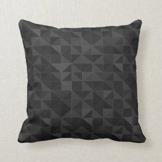 Graphic Black Triangle Pattern Throw Pillow