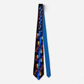GRAPHIC BLUES AND REDS TIE