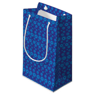 Graphic Bubble Dots   Blue Small Gift Bag