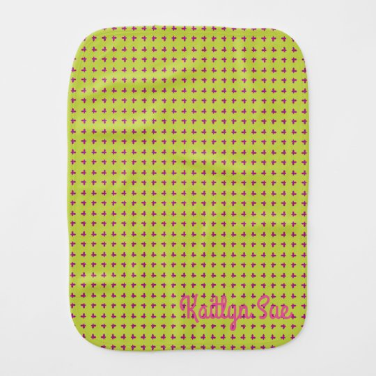 Graphic Butterflies | Lime Baby Burp Cloth