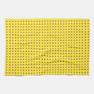 Graphic Butterflies | Yellow Kitchen Towel