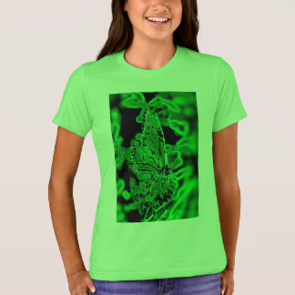 Graphic butterfly green T-Shirt