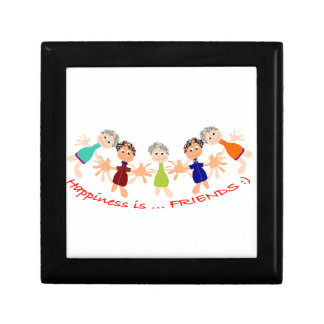 Graphic Characters with Text Happiness_is_Friends Gift Box