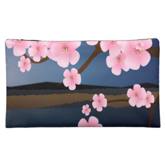 Graphic Cherry Blossom Cosmetics Bags