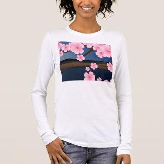 Graphic Cherry Blossom Long Sleeve T-Shirt
