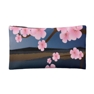 Graphic Cherry Blossom Makeup Bag