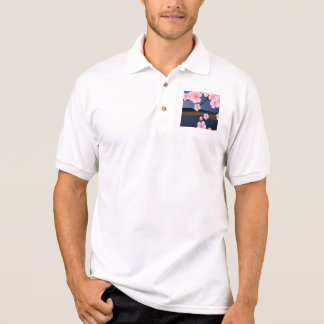 Graphic Cherry Blossom Polo Shirt