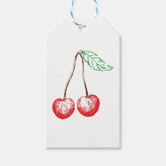 Graphic Cherry Gift Tags