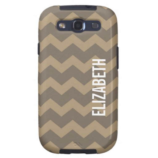 Graphic chevron pattern smoke gray your name galaxy s3 cover