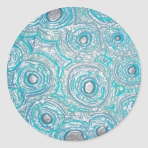 Graphic Circles - BLUE Round Sticker