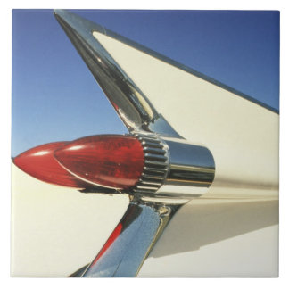 Graphic: Close-up of fin and taillight on Ceramic Tile