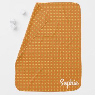 Graphic Daisies | Orange Baby Blanket