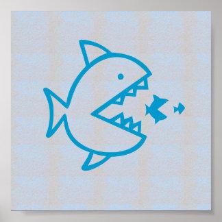 Graphic decorations Sea Beach FISH EAT FISH