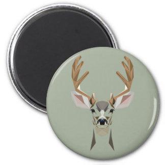 Graphic deer magnet