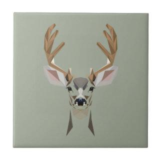 Graphic deer tile