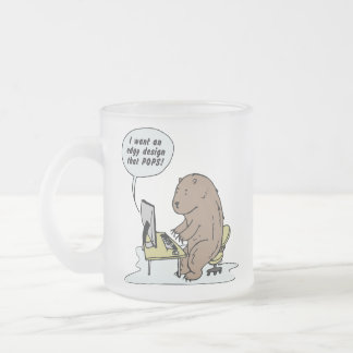 Graphic Design Bear - Frosted Mug