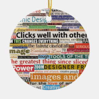 Graphic Design Ceramic Ornament