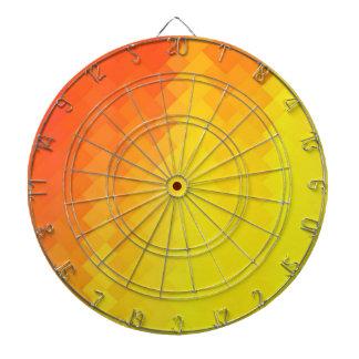 Graphic design dartboard with darts