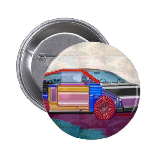 Graphic Design: Exotic Car 2 Inch Round Button