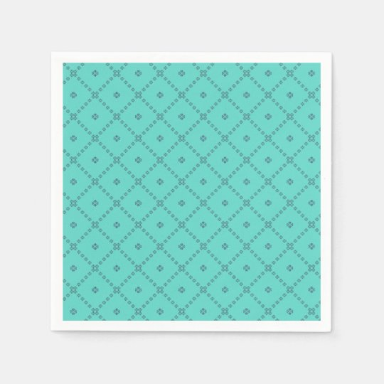 Graphic Design Green Pattern Paper Napkins