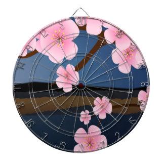 Graphic Design of Cherry Blossom Dartboard