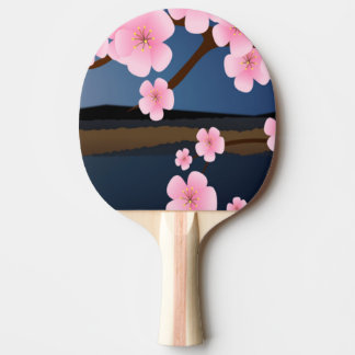 Graphic Design of Cherry Blossom Ping-Pong Paddle