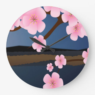 Graphic Design of Cherry Blossom Wall Clock