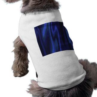 Graphic design of Cobalt Blue Satin Fabric Shirt