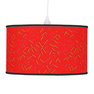 Graphic Design Pattern Red Lamp Shade
