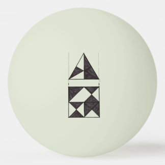Graphic Design Sketch Triangles and Square Ping-Pong Ball