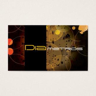 Graphic designer circles custom business card