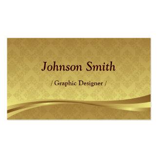 Graphic Designer - Elegant Gold Damask Pack Of Standard Business Cards