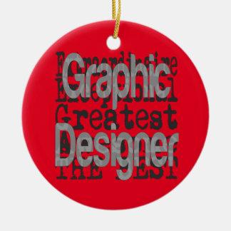 Graphic Designer Extraordinaire Round Ceramic Ornament