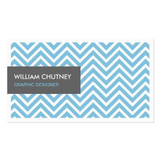 Graphic Designer - Light Blue Chevron Zigzag Business Card