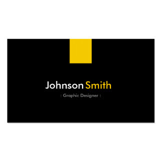 Graphic Designer - Modern Amber Yellow Pack Of Standard Business Cards