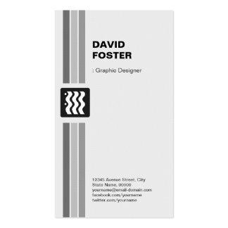 Graphic Designer - Modern Black White Pack Of Standard Business Cards