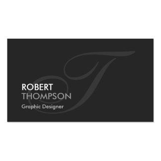 Graphic Designer - Modern Swash Monogram Business Card